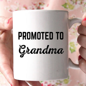 promoted to grandma coffee mug - Shirtoopia