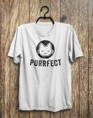 Purrfect Cat Kitten Face T-Shirt  - 1