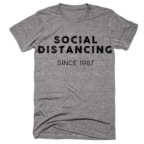 Social Distancing Since 1987 (Customizable Date) Short-Sleeve T-Shirt