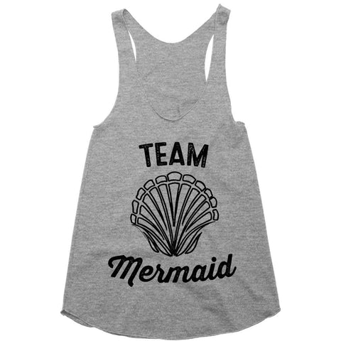 team mermaid racerback top shirt