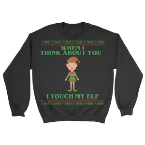 touch my elf sweater