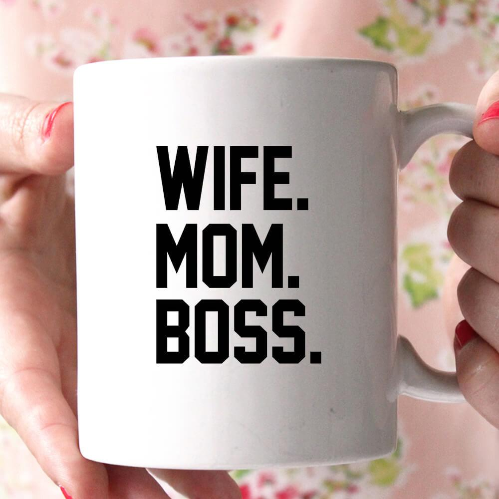 wife mom boss coffee mug - Shirtoopia