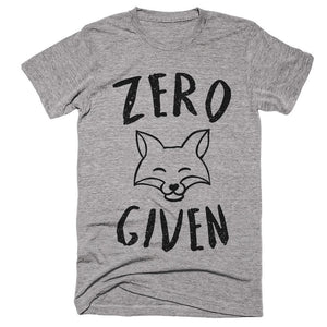 zero fox given t-shirt - Shirtoopia