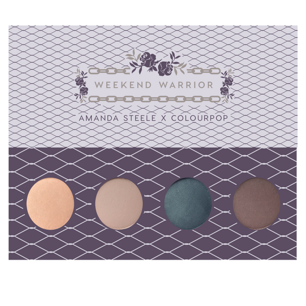 Colourpop x Amanda Steele Weekend Warrior Pressed Powder Shadow Collection (Limited Edition)