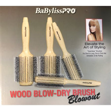 BabylissPRO Wood Blow-Dry Brush Blowout