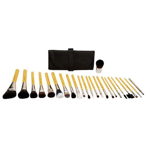 Bdellium Studio Luxury 24pc. Brush Set with Roll-up Pouch