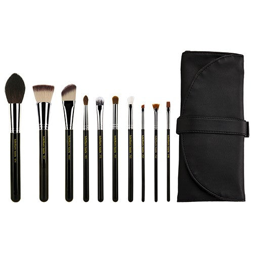 Bdellium Maestro The Key Essential 10pc. Brush set with Roll-up Pouch