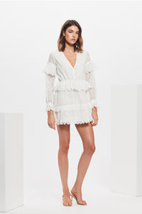 AMELIE RUFFLE MINI DRESS