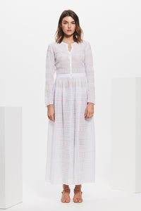 ELKE PLEATED MAXI DRESS