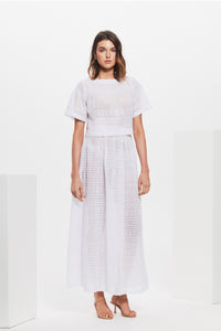 ELKE PLEATED MAXI SKIRT