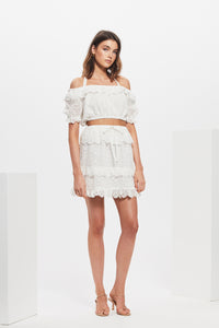 AMELIE RUFFLE MINI SKIRT