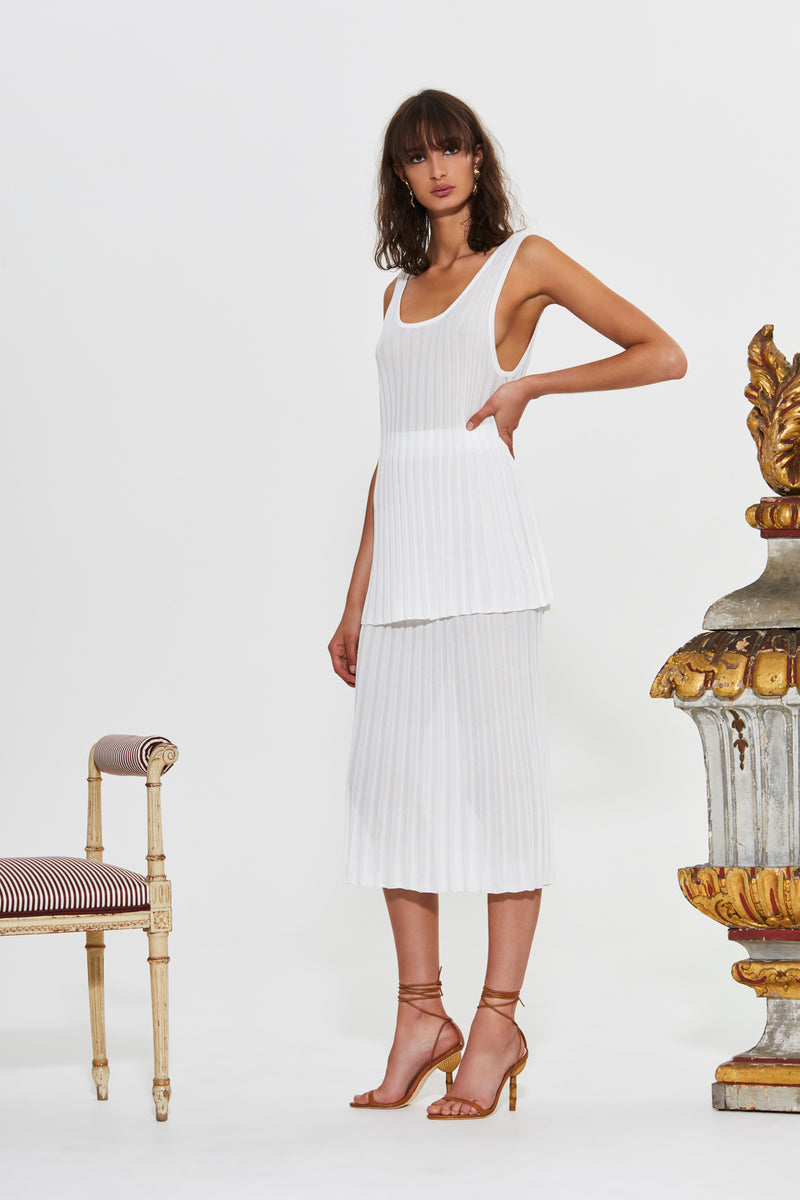 AYA PLEATED MIDI SKIRT