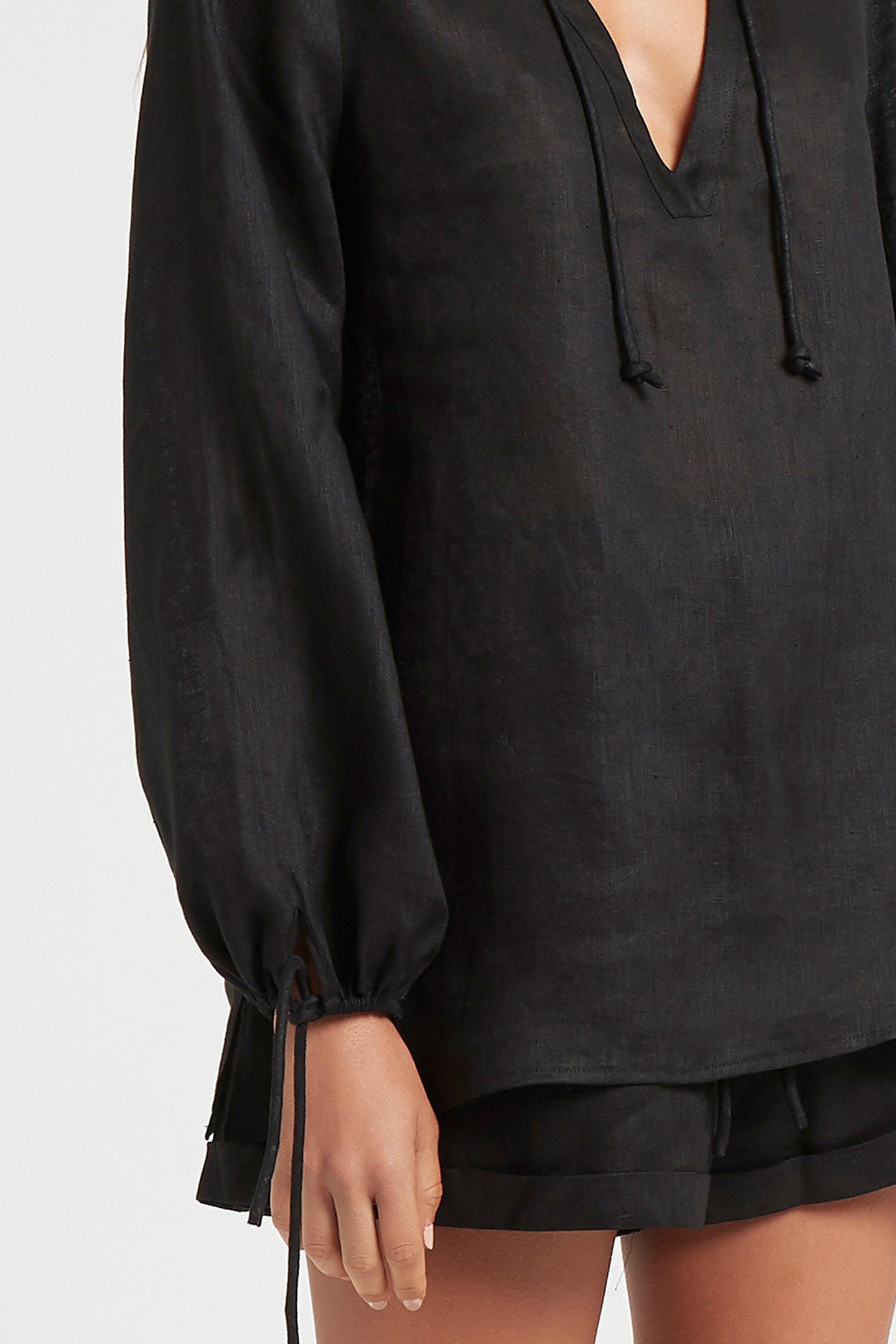 SIR the label ANOUK RELAXED SHIRT BLACK