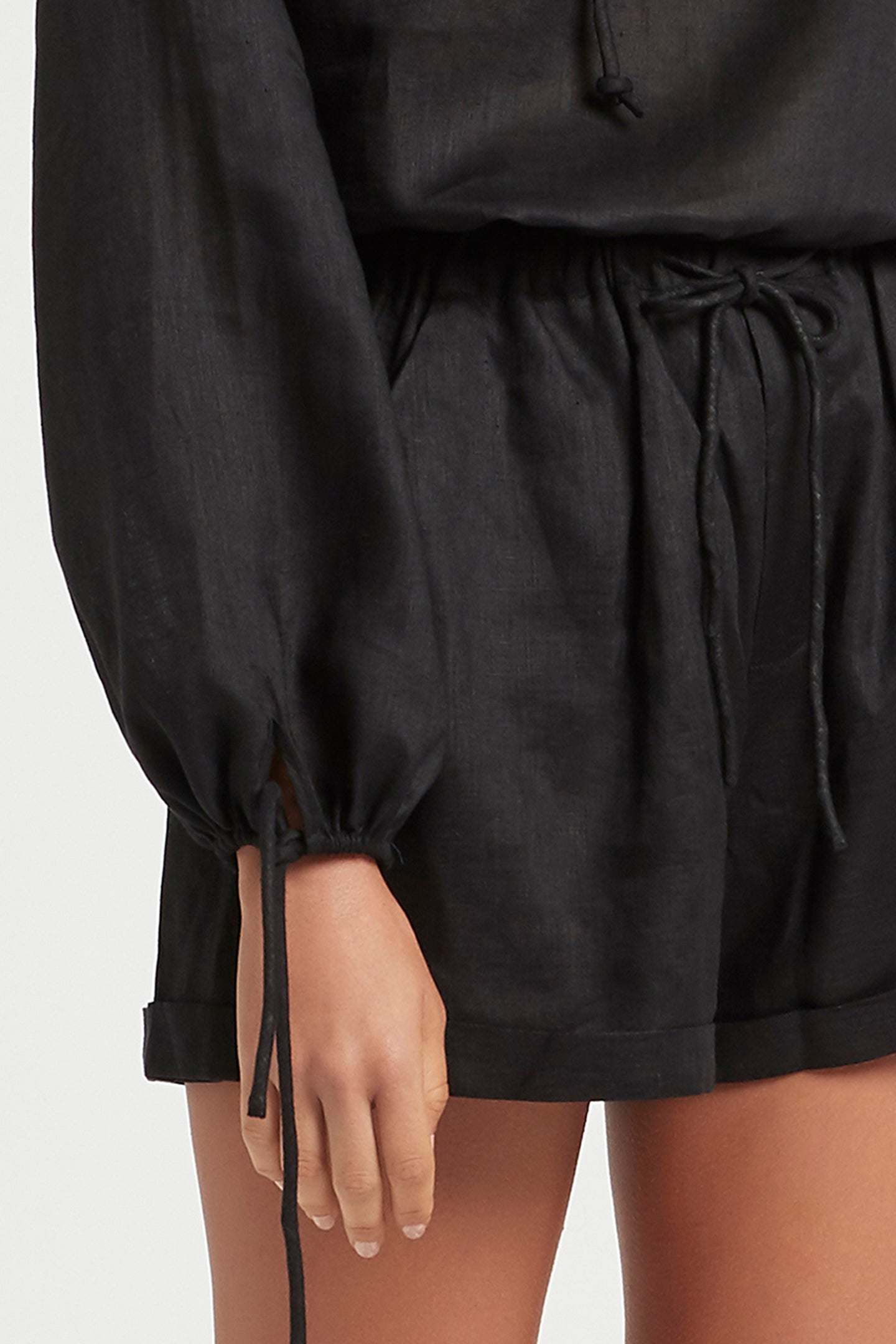 SIR the label ANOUK RELAXED SHORT BLACK