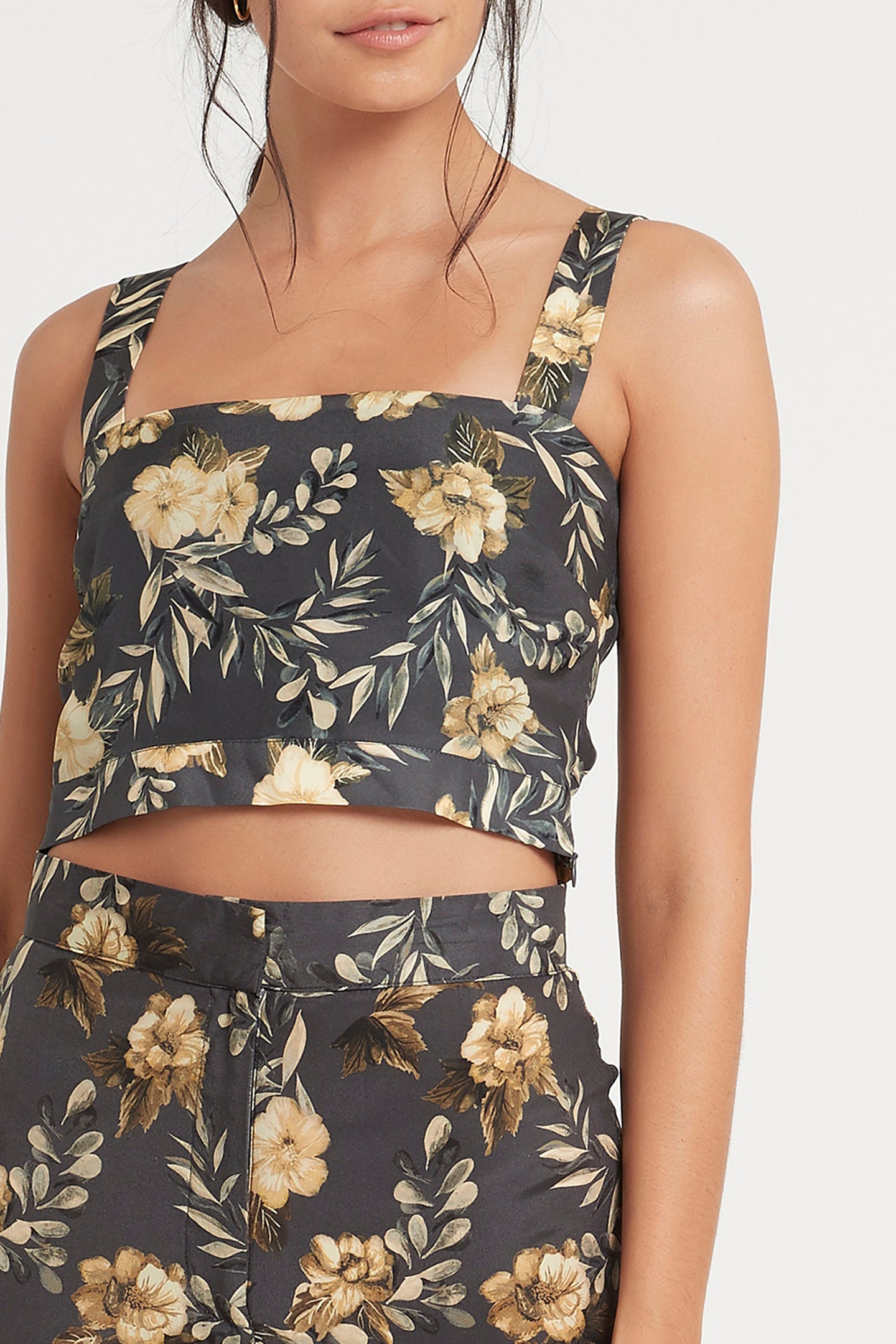 SIR the label LITA CROP CHARCOAL LITA PRINT