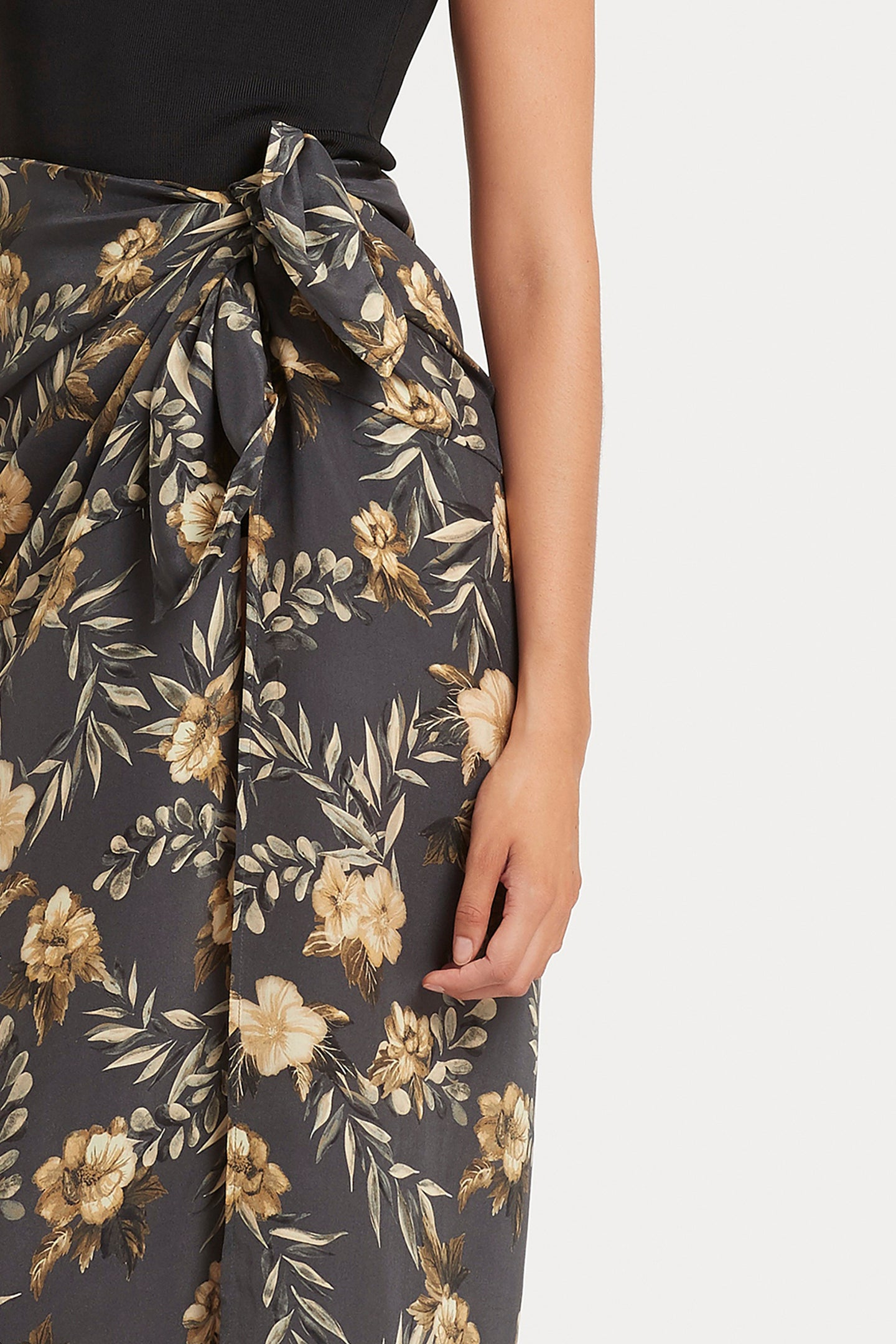 SIR the label LITA SARONG CHARCOAL LITA PRINT