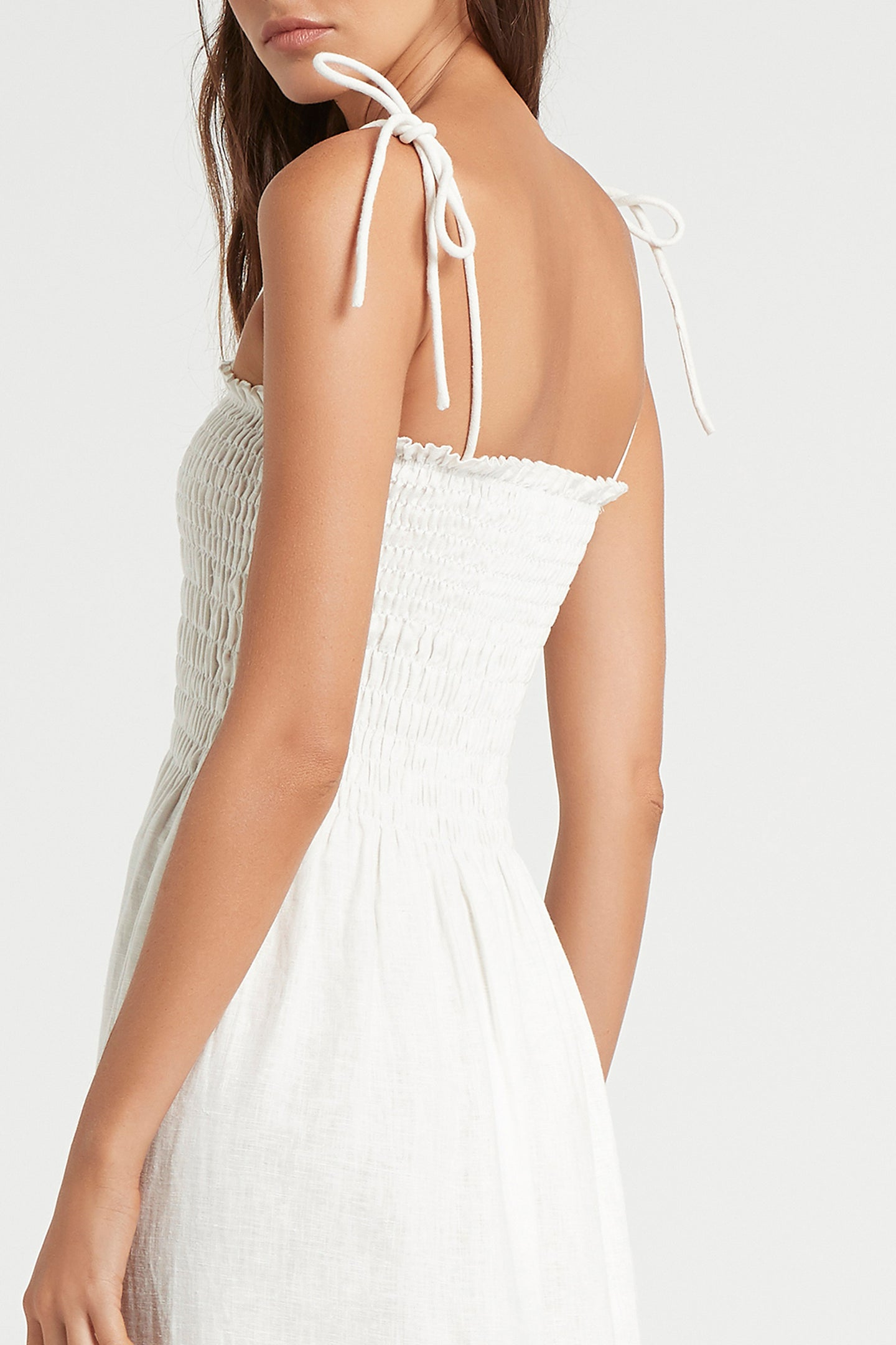 SIR the label LILA RUCHED MAXI DRESS IVORY