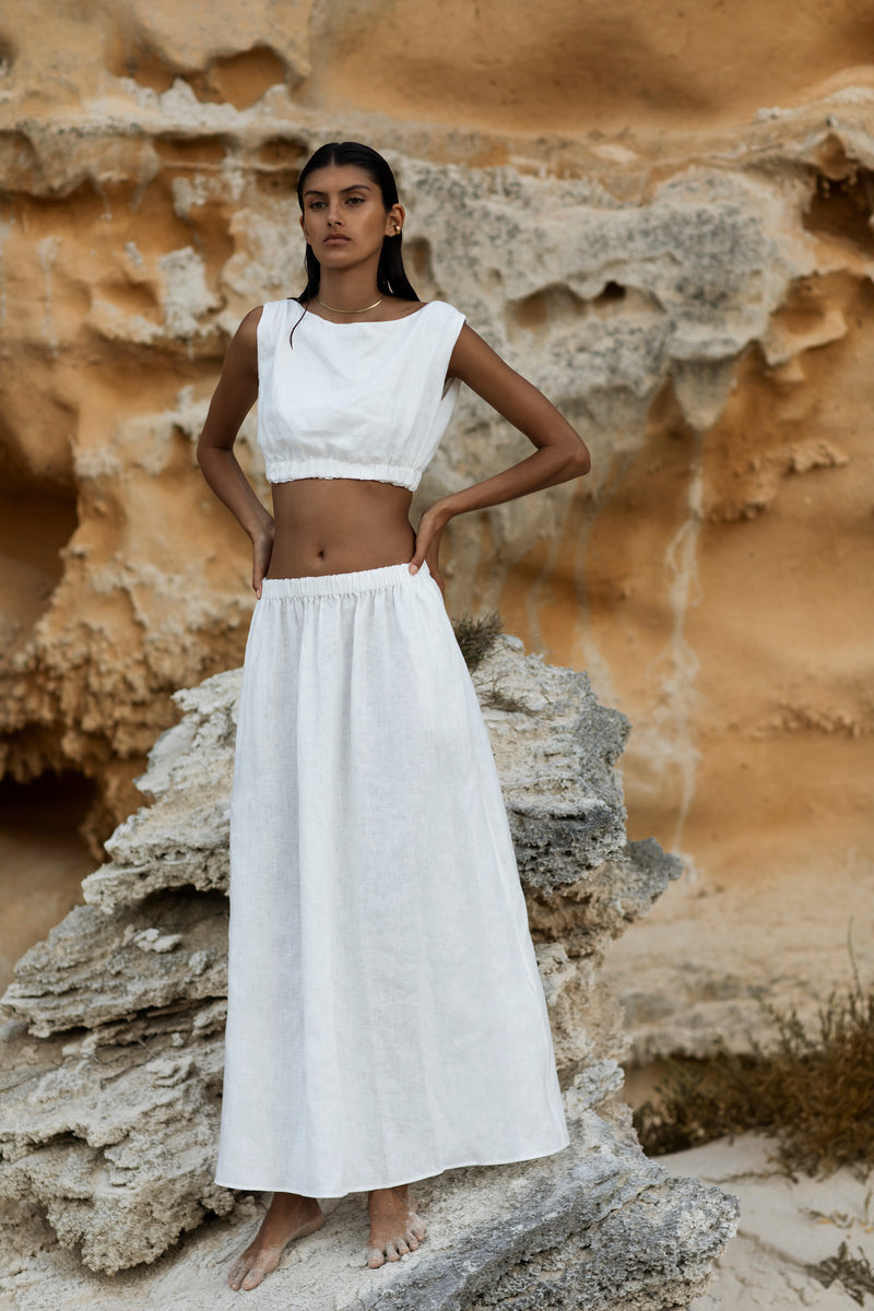 SIR the label BLANCHE MAXI SKIRT IVORY