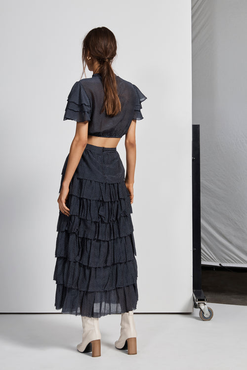 1dc78c3e30 FREDERIQUE TIERED MIDI SKIRT – SIR the label