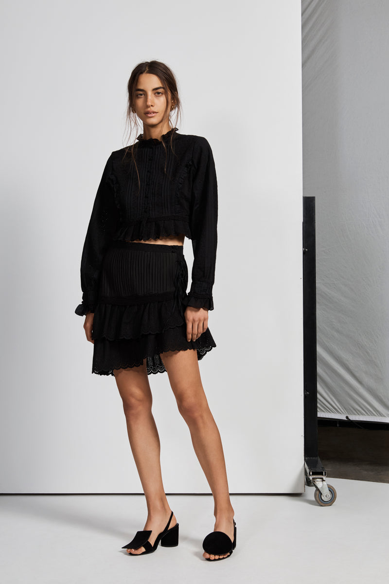 CELIÉ PLEATED MINI SKIRT