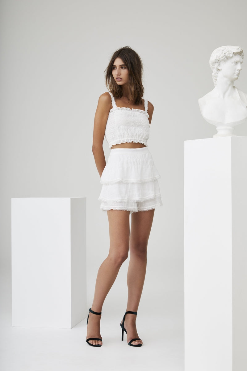 LUCILLE EMBROIDERED SKORT