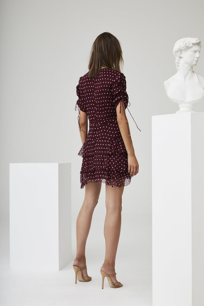 MARCEAU DETAILED MINI DRESS