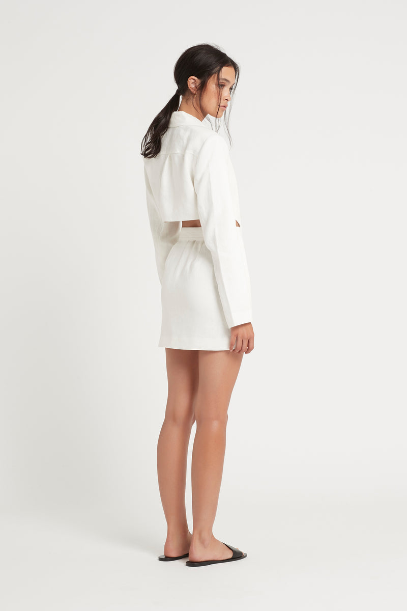 SIR the label PASCALE CUT OUT MINI DRESS IVORY