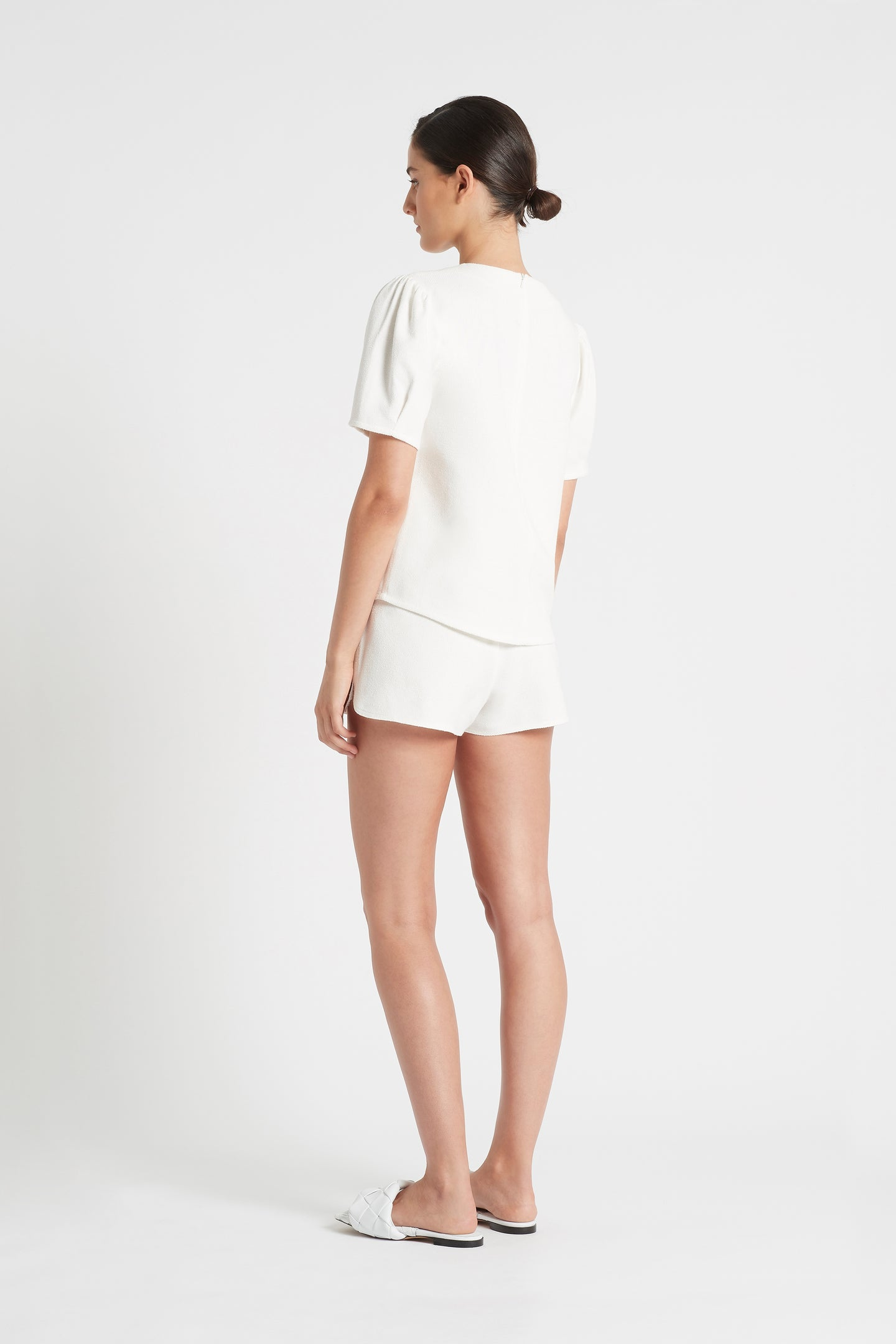 SIR the label JACQUE STRUCTURED TOP IVORY