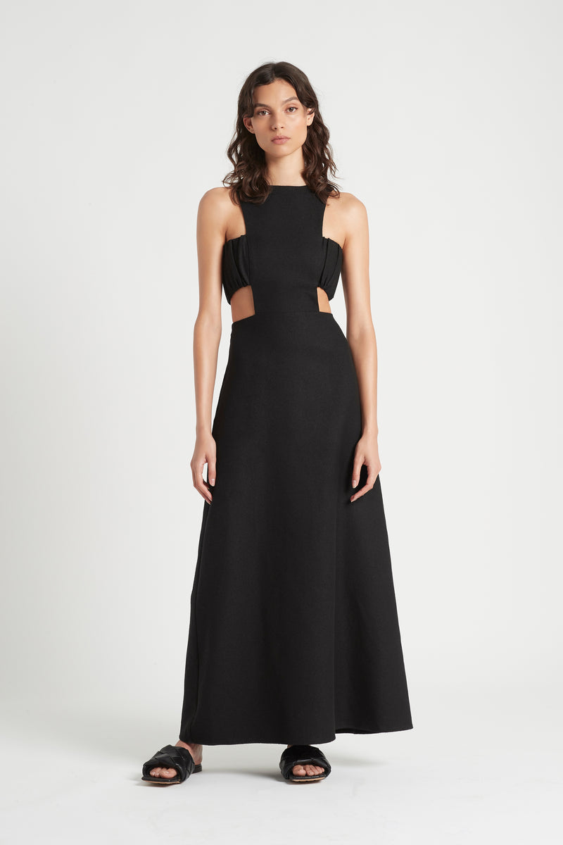 SIR the label YVES CUT OUT GOWN BLACK