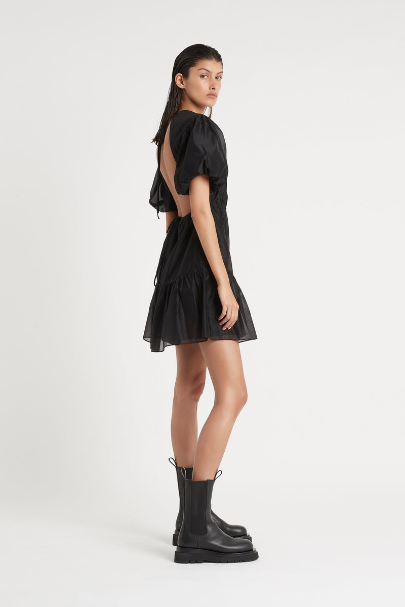 AMERIE OPEN BACK MINI DRESS