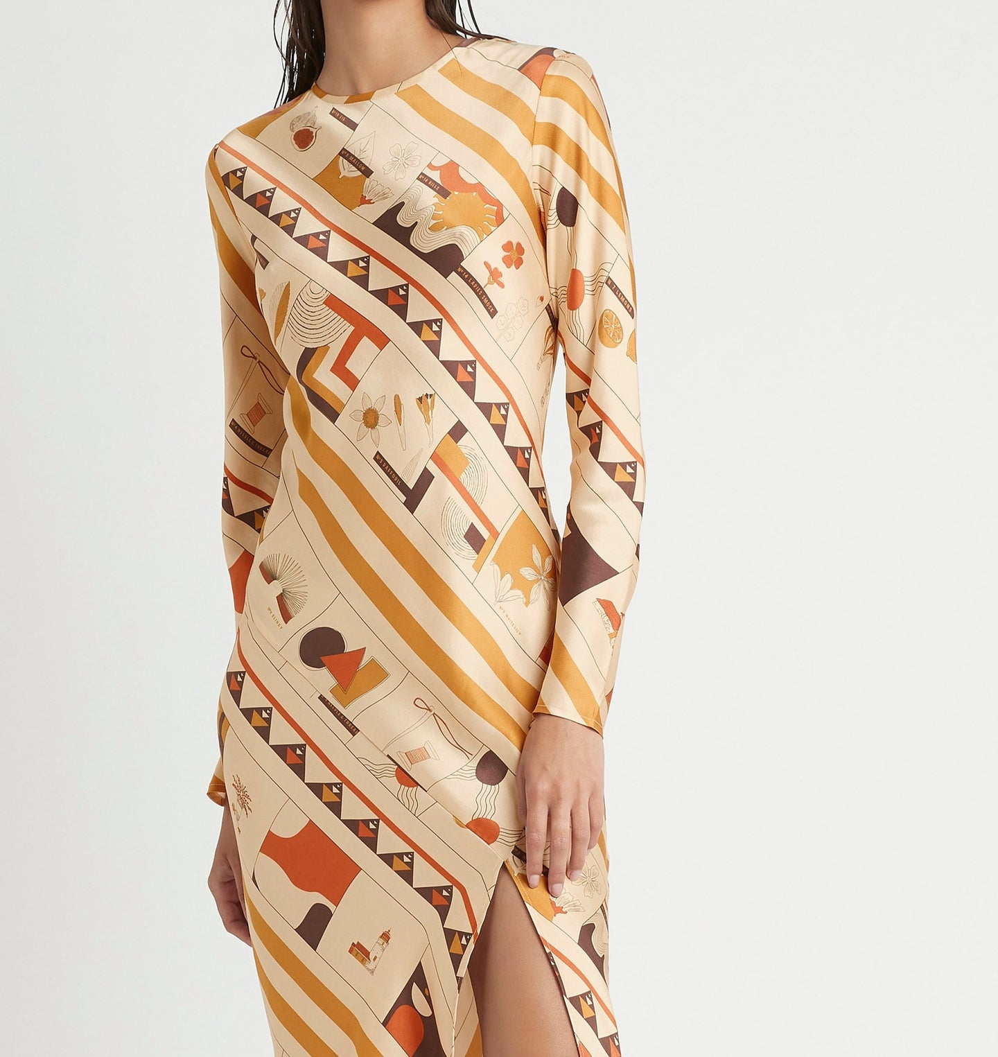 SIR the label SOLEIL LONG SLEEVE DRESS SOLEIL PRINT