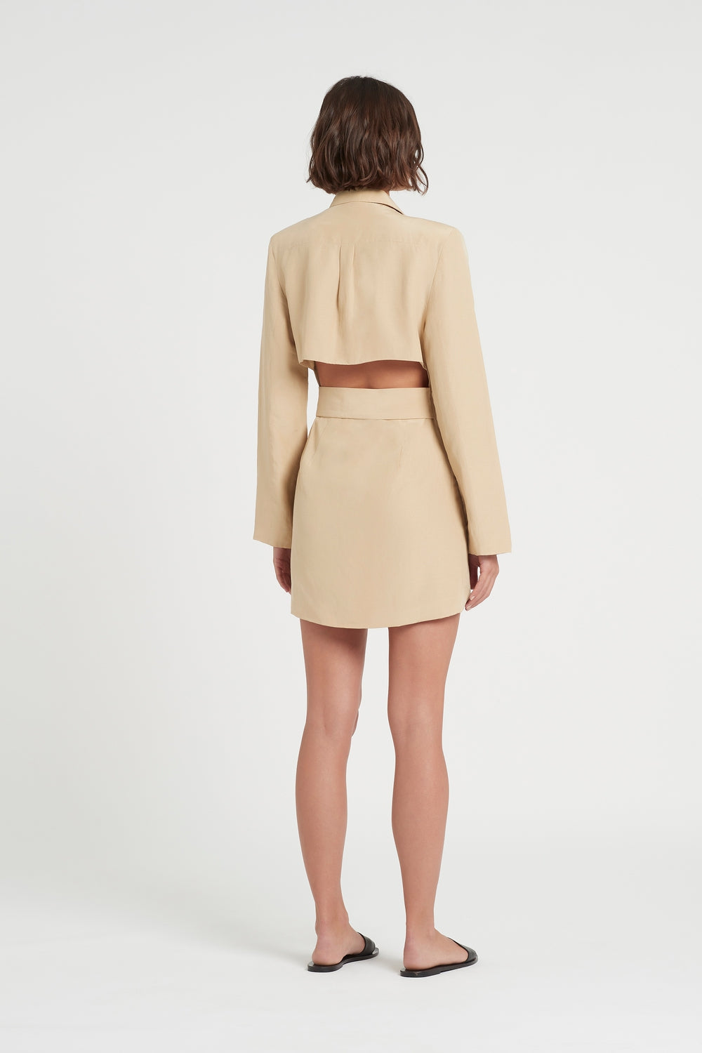 SIR the label LEON LONG SLEEVE MINI DRESS CARMELO