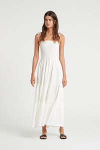 LILA RUCHED MAXI DRESS