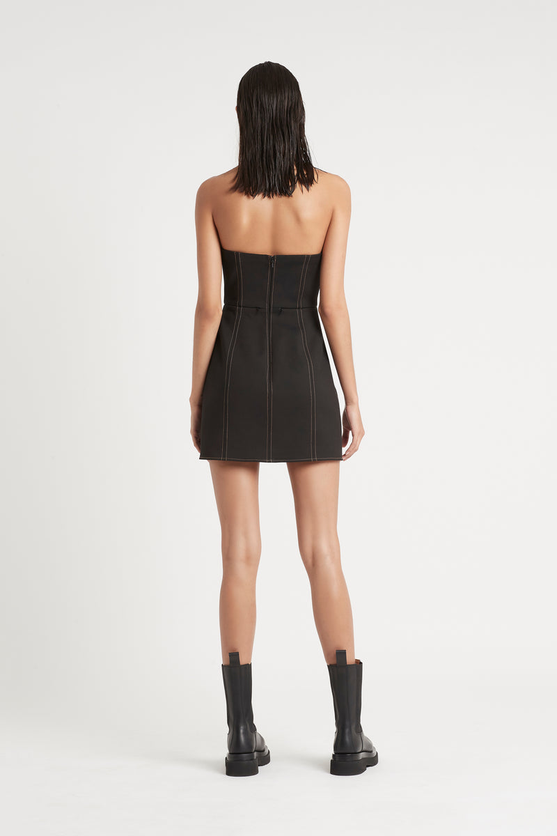 SIR the label ANDRE STRAPLESS MINI DRESS BLACK