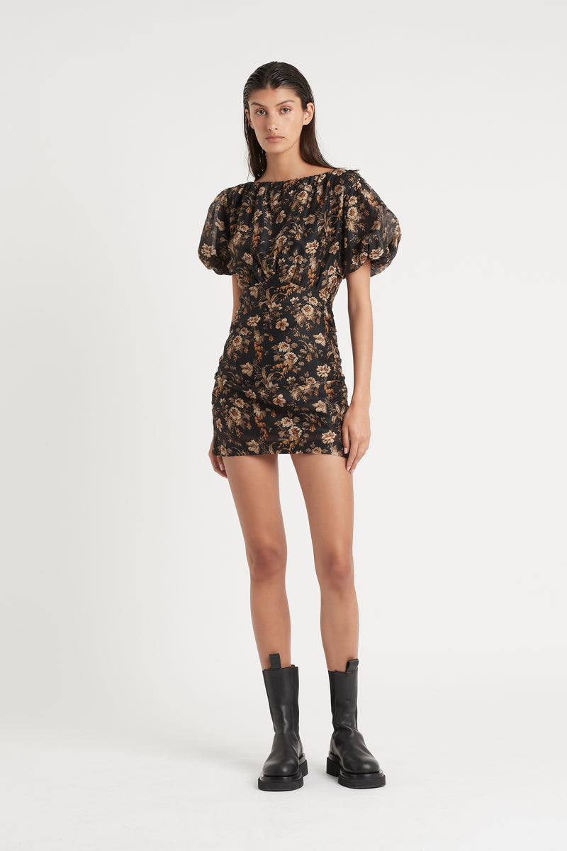 SIR the label AMERIE PUFF SLEEVE DRESS AMERIE PRINT