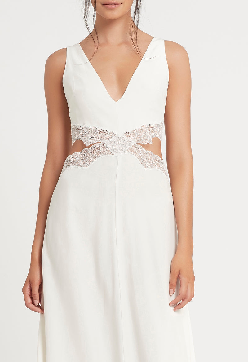 SIR the label ALMA CUT OUT DRESS IVORY