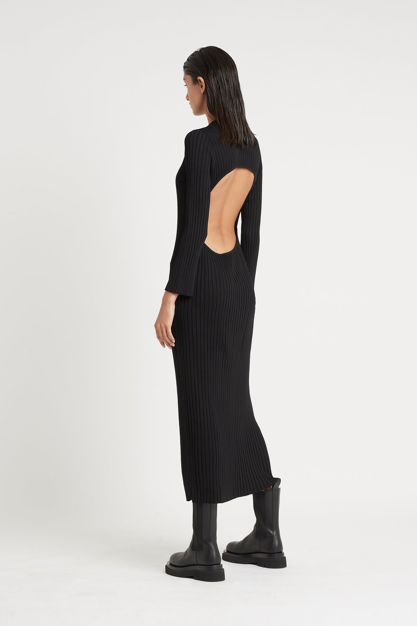 SIR the label LUCCA LONG SLEEVE DRESS BLACK