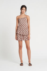 FLORÉ ONE SHOULDER MINI DRESS