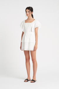 CAPRICE RUFFLE MINI DRESS