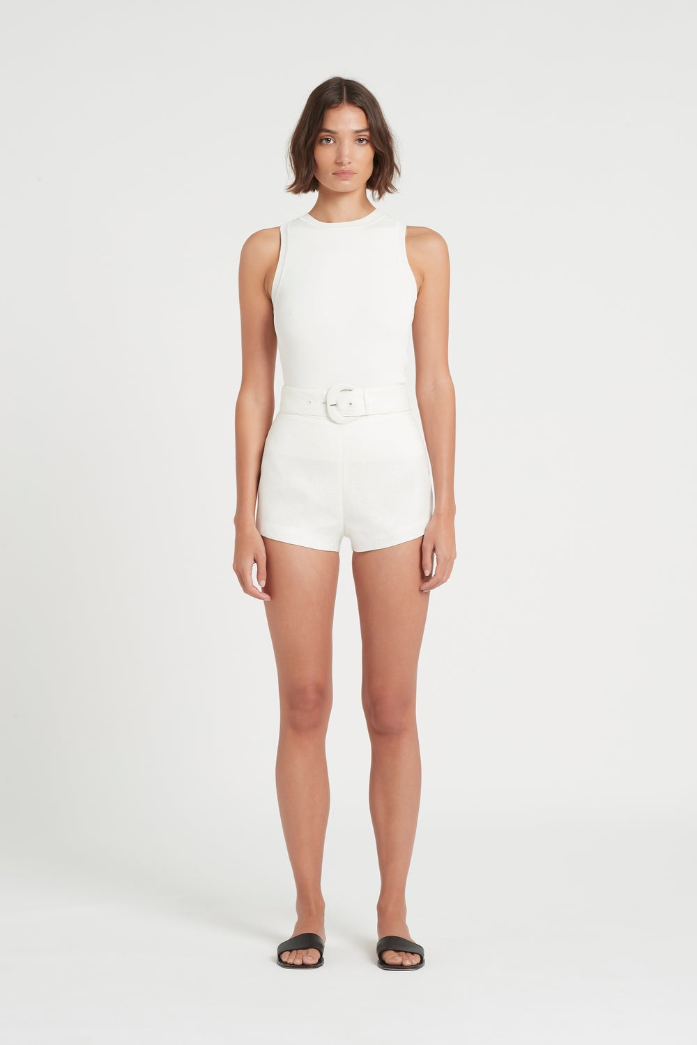 SIR the label EMILE BELTED SHORT IVORY