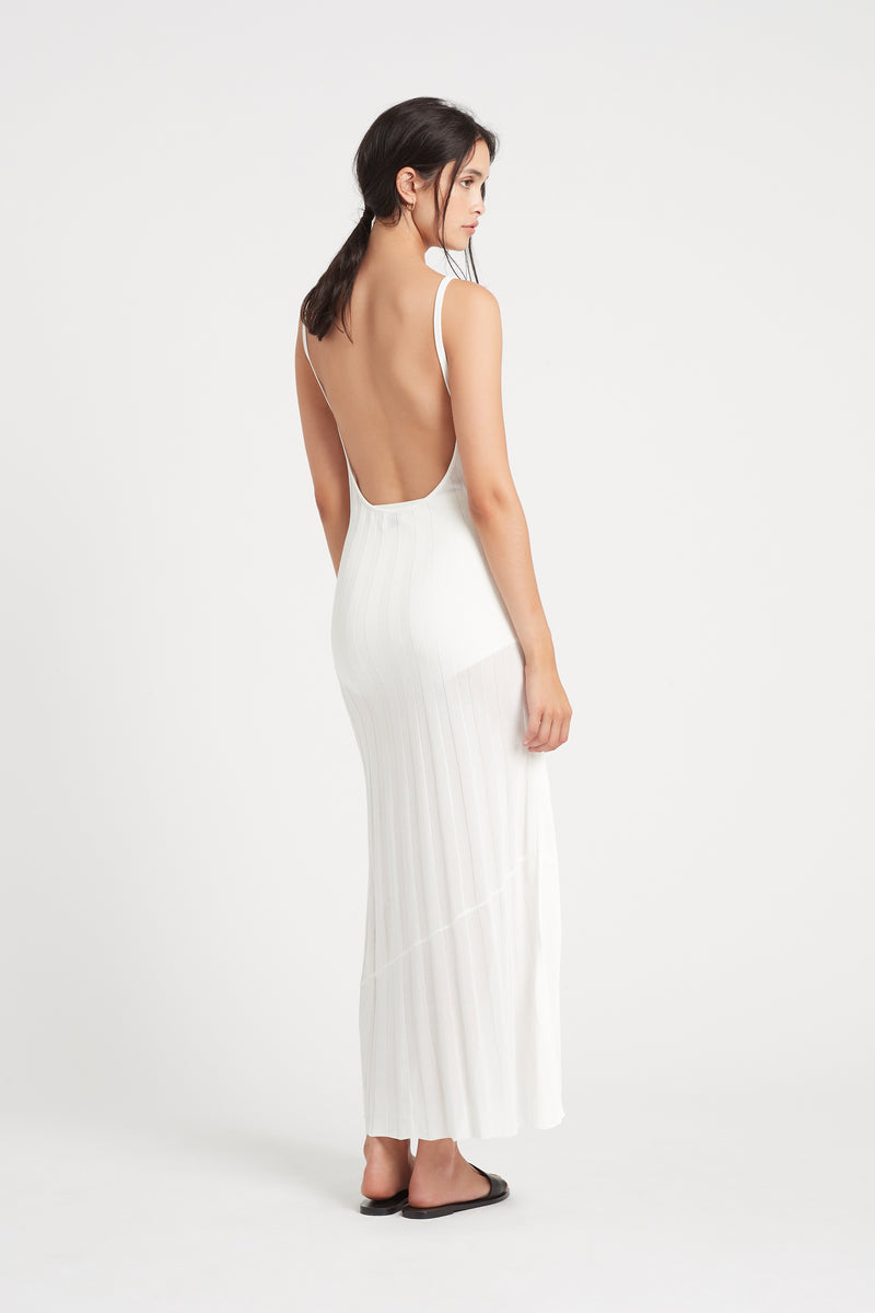 SIR the label VERA LOW BACK DRESS IVORY