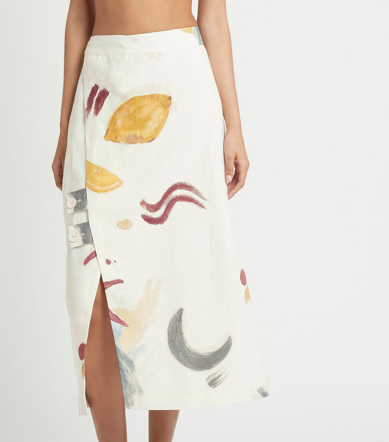 MARTINE WRAP MIDI SKIRT