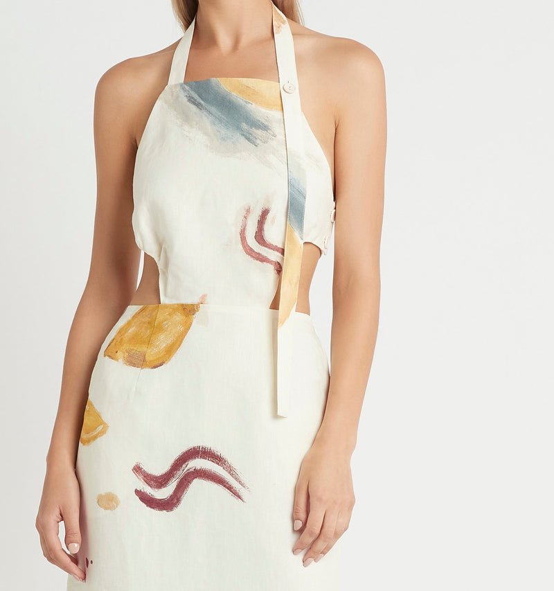 MARTINE HALTER DRESS