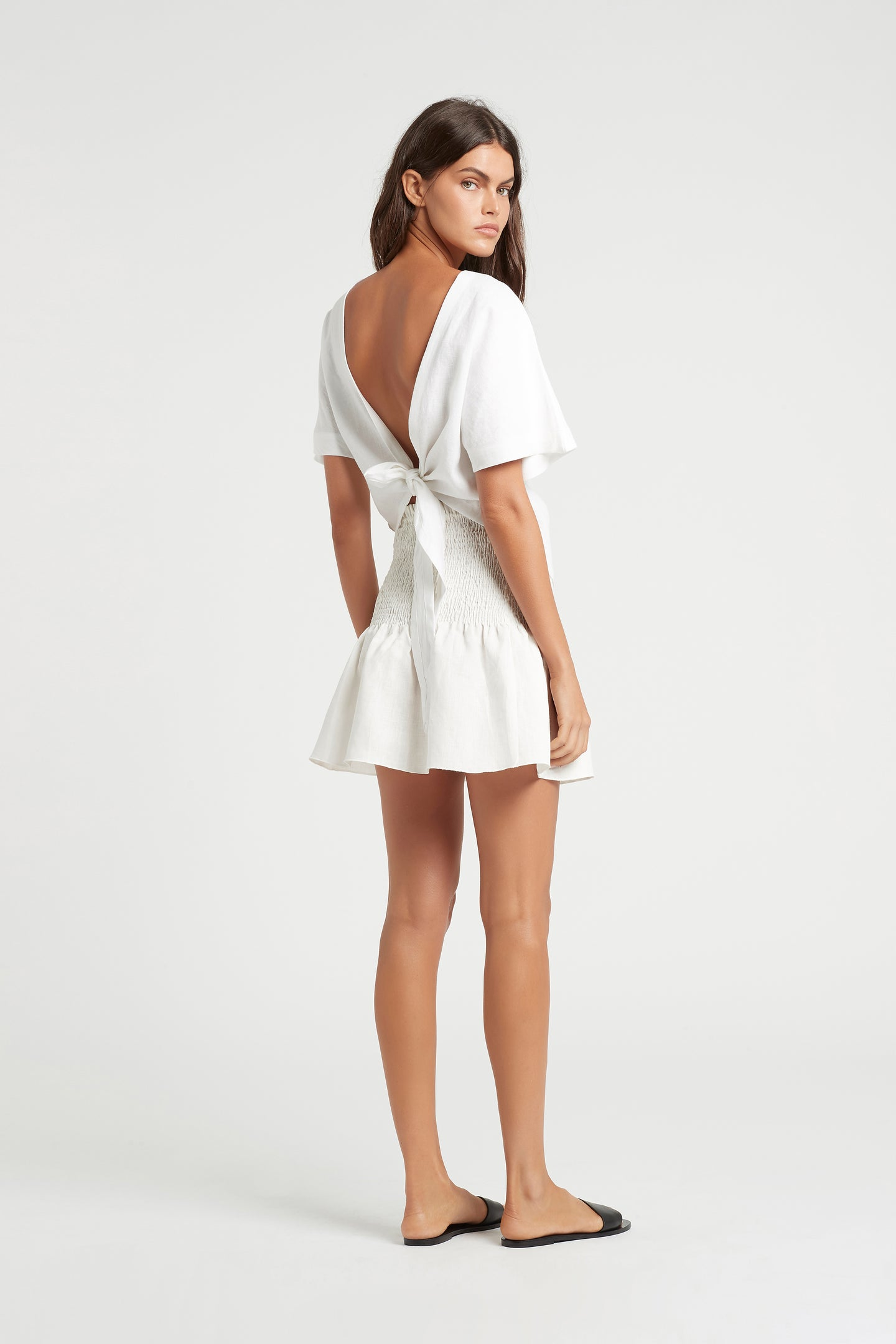 SIR the label ALENA RUCHED MINI SKIRT WHITE