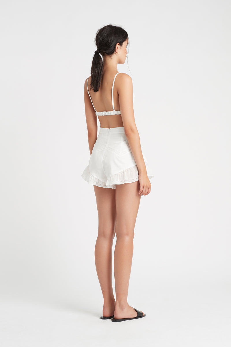 SIR the label CAPRICE PLEATED BRALETTE IVORY