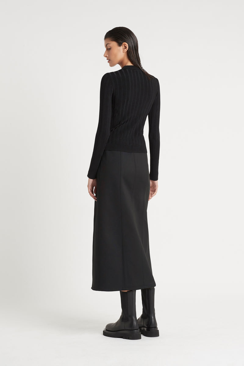 SIR the label ANDRE MIDI SKIRT BLACK