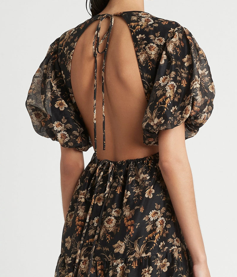SIR the label AMERIE OPEN BACK DRESS AMERIE PRINT