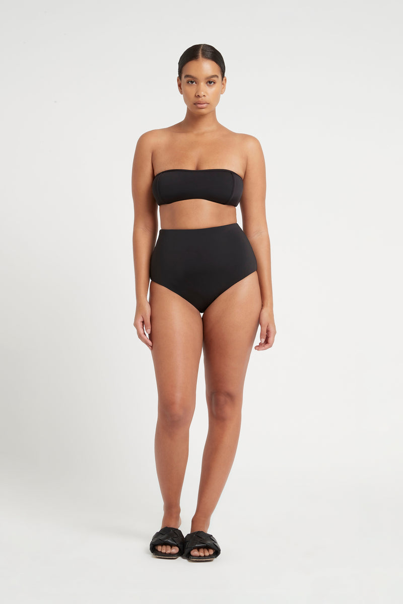 SIR the label HENDRY PANELLED BANDEAU BLACK