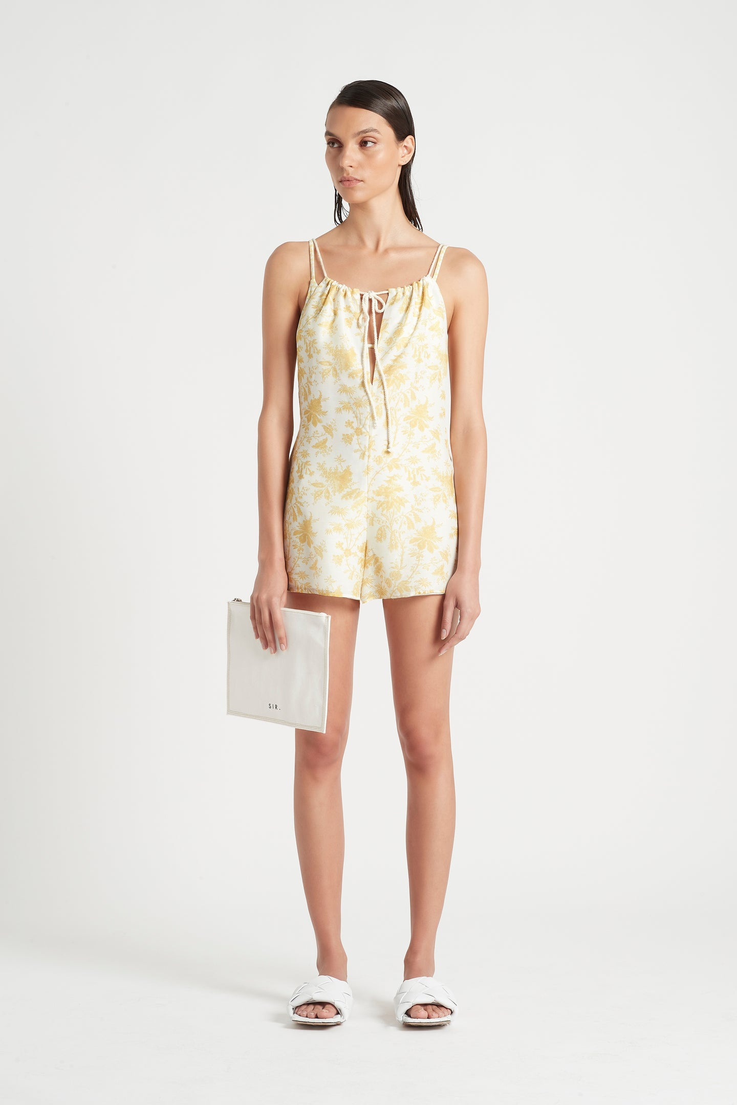SIR the label CLEMENTINE ROMPER IVORY CLEMENTINE PRINT