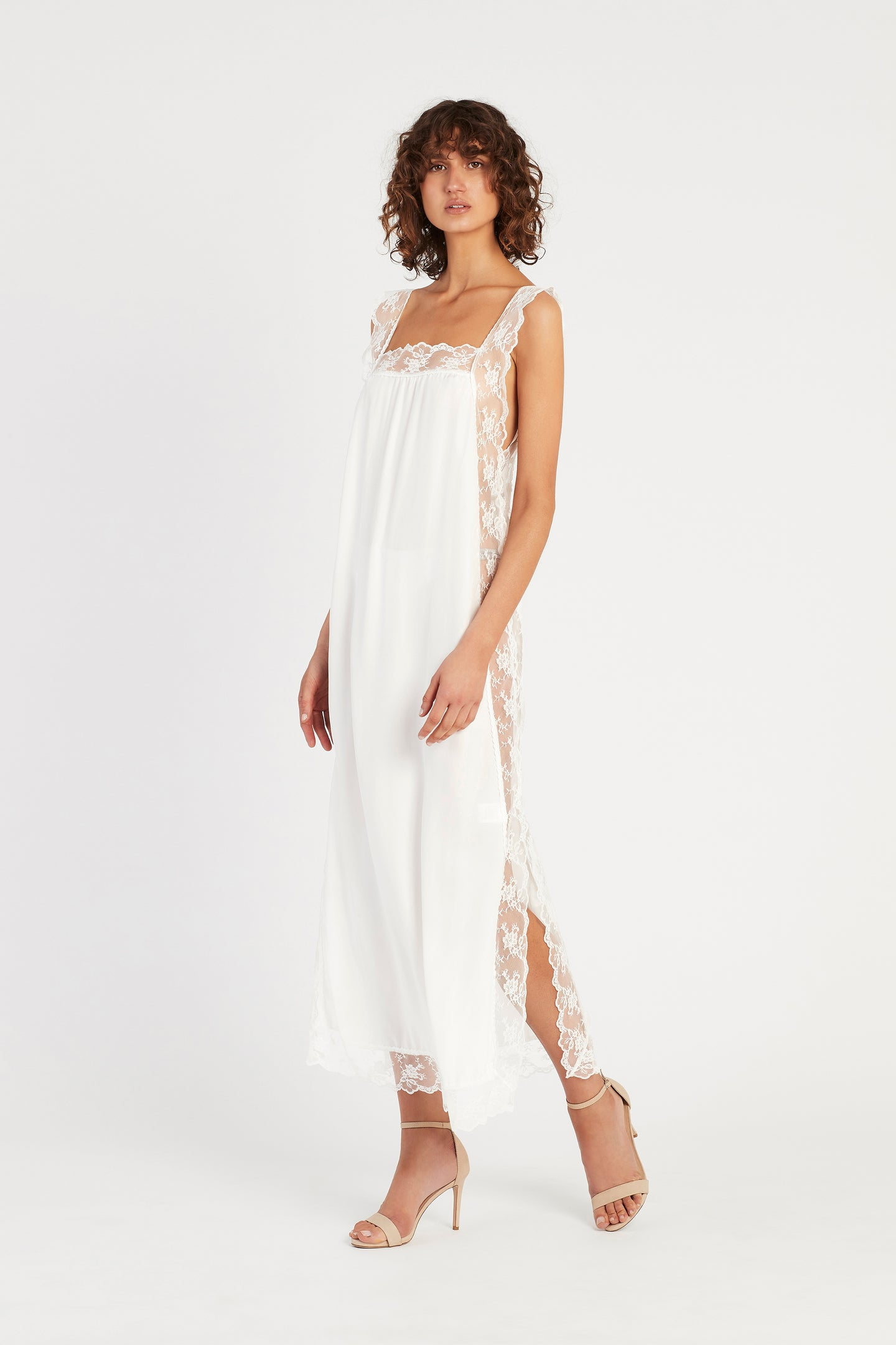 SIR the label ARIES LOW BACK DRESS IVORY